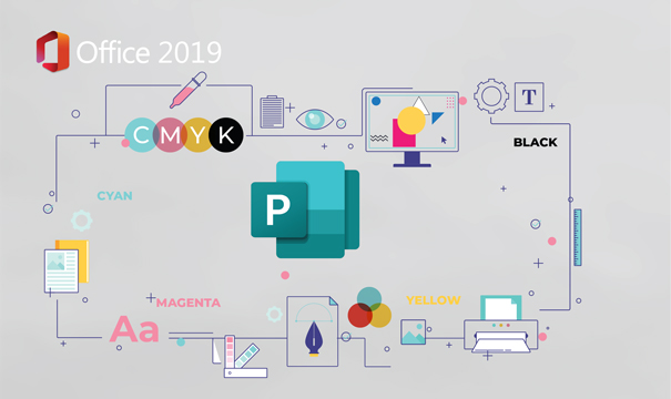 Create visual communications with Publisher 2019