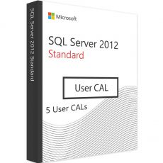 SQL Server 2012 Standard - 5 User CALs, Client Access Licenses: 5  CALs, image