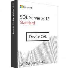 SQL Server 2012 Standard - 20 Device CALs, Client Access Licenses: 20 CALs, image