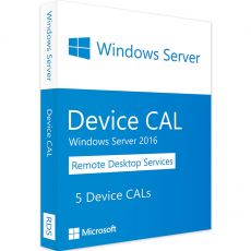 Windows Server 2016 RDS - 5 Device CALs, Client Access Licenses: 5  CALs, image